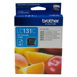Brother-LC-131C-Brother LC-131C  Cyan Ink Cartridge - to suit DCP-J152W/J172W/J552DW/J752DW/MFC-J245/J470DW/J475DW/J650DW/J870DW - up to 300 pages