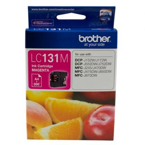 Brother-LC-131M-Brother LC-131M Megenta Ink Cartridge - to suit DCP-J152W/J172W/J552DW/J752DW/MFC-J245/J470DW/J475DW/J650DW/J870DW - up to 300 pages