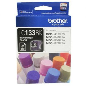 Brother-LC-133BK-Brother LC-133BK Black Ink Cartridge - MFC-J6520DW/J6720DW/J6920DW and DCP-J4110DW/MFC-J4410DW/J4510DW/J4710DW and DCP-J152W/J172W/J552DW/J752