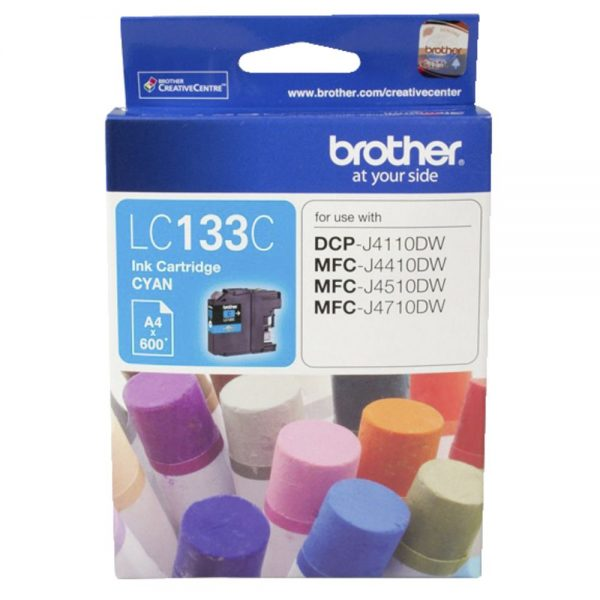 Brother-LC-133C-Brother LC-133C Cyan Ink-600p-MFC-J6520DW/J6720DW/J6920DW and DCP-J4110DW/MFC-J4410DW/J4510DW etc.