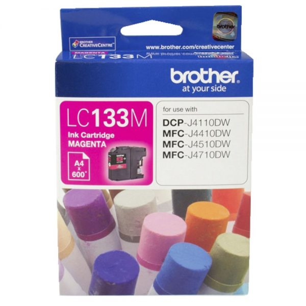 Brother-LC-133M-Brother LC-133M Magenta Ink -600 p- MFC-J6520DW/J6720DW/J6920DW and DCP-J4110DW/MFC-J4410DW etc.