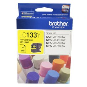 Brother-LC-133Y-Brother LC-133Y Yellow Ink-MFC-J6520DW/J6720DW/J6920DW and DCP-J4110DW/MFC-J4410DW/J4510DW/J4710DW and DCP-J152W/J172W/J552DW/J752DW/MFC-J245/etc.