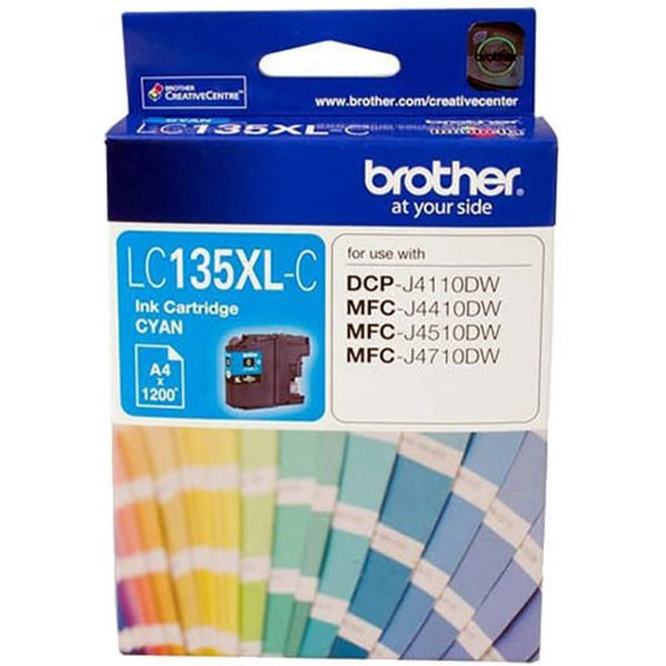 Brother-LC-135XLC-Brother LC-135XLC Cyan Ink Cartridge- MFC-J6520DW/J6720DW/J6920DW and DCP-J4110DW/MFC-J4410DW/J4510DW/J4710DW - up to 1200 pages