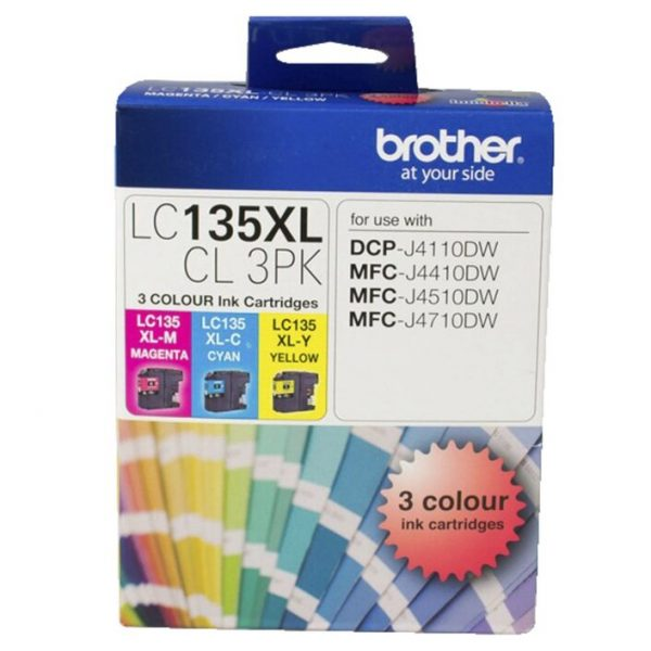 Brother-LC-135XLCL3PK-Brother LC-135XL Colour Value Pack 1XCyan 1X Magenta 1X Yellow