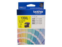 Brother-LC-135XLY-Brother LC-135XLY Yellow Ink Cartridge- MFC-J6520DW/J6720DW/J6920DW and DCP-J4110DW/MFC-J4410DW/J4510DW/J4710DW -  1200 pages