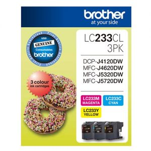 Brother-LC-233CL-3PKS-Brother LC-233 3x Colour Value 3 Pack