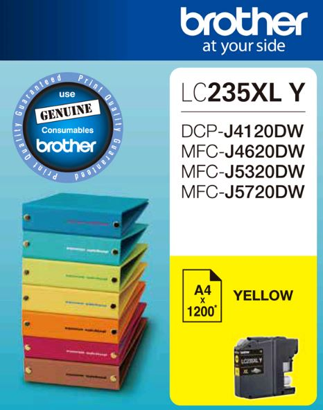 Brother-LC-235XLYS-Brother LC235XL YS Yellow Ink Cartridge -DCP-J4120DW/MFC-J4620DW/J5320DW/J5720DW (LS)