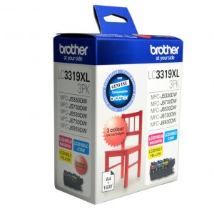 Brother-LC-3319XL-3PK-Brother LC-3319XL  Colour Value Pack 1X Cyan 1X Magenta 1X Yellow-MFC-J5330DW/J5730DW/J6530DW/J6730DW/J6930DW - up to 3000 P
