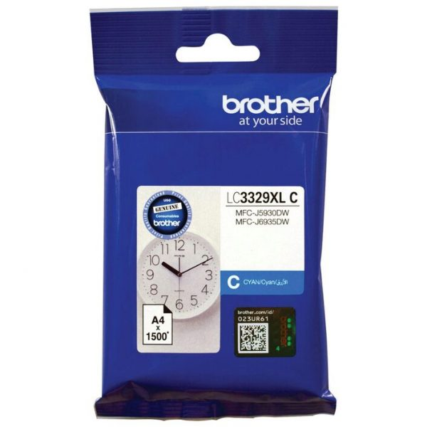 Brother-LC-3329XLC-Brother LC3329XLC  CYAN INK CARTRIDGE TO SUIT MFC-J5930DW/J6935DW - UP TO 1500 PAGES