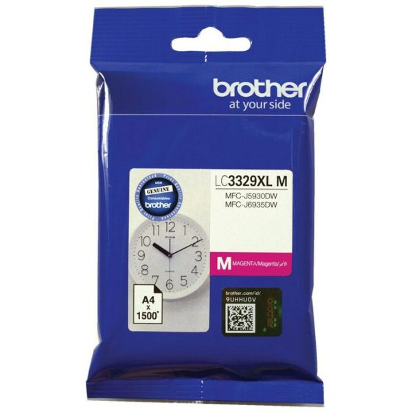 Brother-LC-3329XLM-Brother LC3329XLM  MAGENTA INK CARTRIDGE TO SUIT MFC-J5930DW/J6935DW - UP TO 1500 PAGES