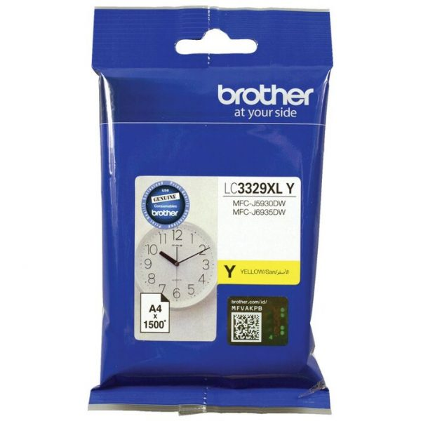 Brother-LC-3329XLY-Brother LC3329XLY YELLOW  INK CARTRIDGE TO SUIT MFC-J5930DW/J6935DW - UP TO 1500 PAGES