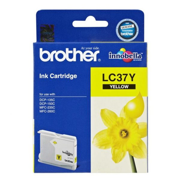 Brother-LC-37Y-Brother LC-37Y Yellow Ink Cartridge- to suit DCP-135C/150C