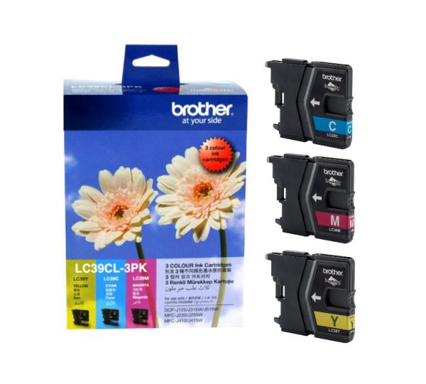 Brother-LC-39CL-3PK-Brother LC-39 Colour Value Pack 1 x Cyan