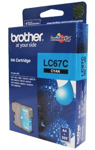 Brother-LC-67C-Brother LC-67C Cyan Ink Cartridge- to suit DCP-385C/395CN/585CW/6690CW/J715W