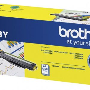 Brother-TN-253Y-Brother TN-253Y Yellow Toner Cartridge to Suit -  HL-3230CDW/3270CDW/DCP-L3015CDW/MFC-L3745CDW/L3750CDW/L3770CDW (1