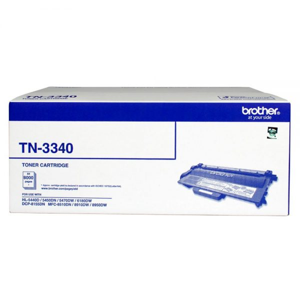 Brother-TN-3340-Brother TN-3340 Mono Laser toner - High yield - HL-5440D/5450DN/5470DW/6180DW  MFC-8510DN/8910DW/8950DW  DCP-8155DN-  up to 8000 pages