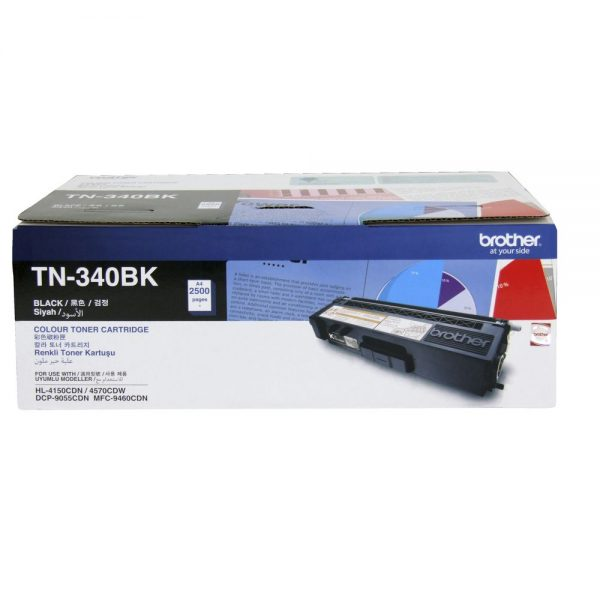 Brother-TN-340BK-Brother TN-340BK Colour Laser Toner - Standard Yield Black
