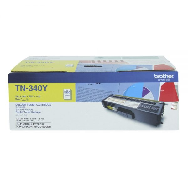 Brother-TN-340Y-Brother TN-340Y  Colour Laser Toner- Standard Yield Yellow