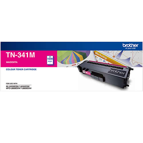 Brother-TN-341M-Brother TN-341M Colour Laser Toner-Standard Magenta