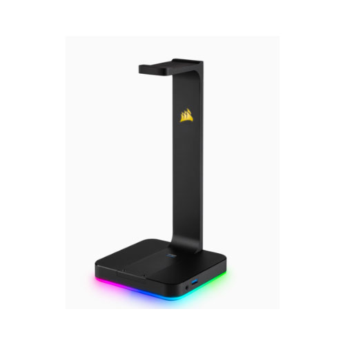 Corsair-CA-9011167-AP-Corsair Gaming ST100 RGB - Headset Stand with 7.1 Surround Sound. Built in 3.5mm analog input. Dual USB 3.1 ports.