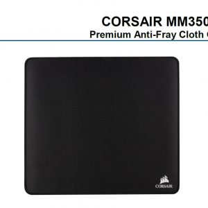 Corsair-CH-9413560-WW-Corsair MM350 Champion Series X-Large Anti-Fray Cloth Gaming Mouse Pad. 450x400mm 2 Years Warranty (LS)
