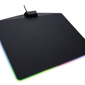 Corsair-CH-9440020-AP-Corsair MM800 RGB POLARIS RGB Mouse low friction micro-texture surfacet. 15 RGB Zones with CUE software for Ultimate Gaming Setup. 350mm x 260mm x 5mm