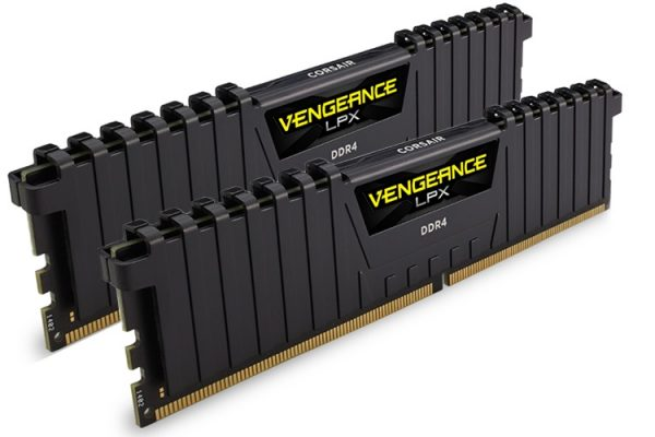 Corsair-CMK8GX4M2A2400C16-Corsair Vengeance LPX 8GB (2x4GB) DDR4 2400MHz C16 Desktop Gaming Memory Black