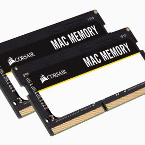 Corsair-CMSA32GX4M2A2666C18-Corsair 32GB (2x16GB) DDR4 SODIMM 2666MHz 1.2V Memory for Mac Memory RAM