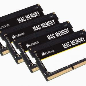 Corsair-CMSA64GX4M4A2666C18-Corsair 64GB (4x16GB) DDR4 SODIMM 2666MHz 1.2V Memory for Mac Memory RAM