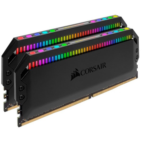 Corsair-CMT16GX4M2Z3200C16-Corsair Dominator Platinum RGB 16GB (2x8GB) DDR4 3200MHz CL16 UDIMM XMP 2.0 Black Heatspreader for AMD Ryzen