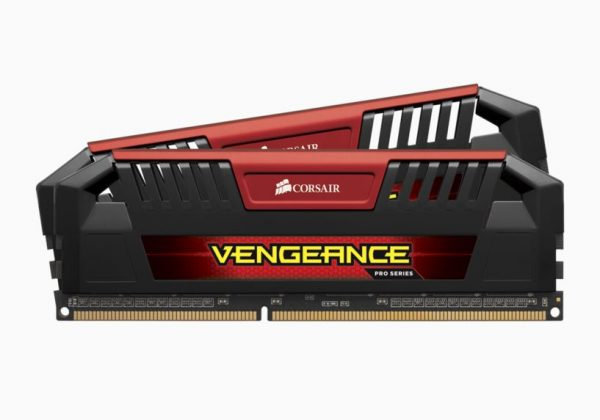 Corsair-CMY16GX3M2A1600C9R-Corsair Vengeance Pro 16GB (2x8GB) DDR3 1600MHz C9 Desktop Gaming Memory Red