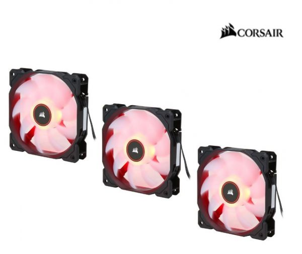 Corsair-CO-9050083-WW-Corsair Air Flow 120mm Fan Low Noise Edition / Red LED 3 PIN - Hydraulic Bearing