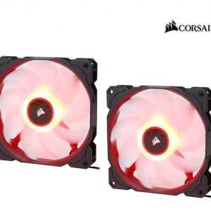 Corsair-CO-9050089-WW-Corsair Air Flow 140mm Fan Low Noise Edition / Red LED 3 PIN - Hydraulic Bearing
