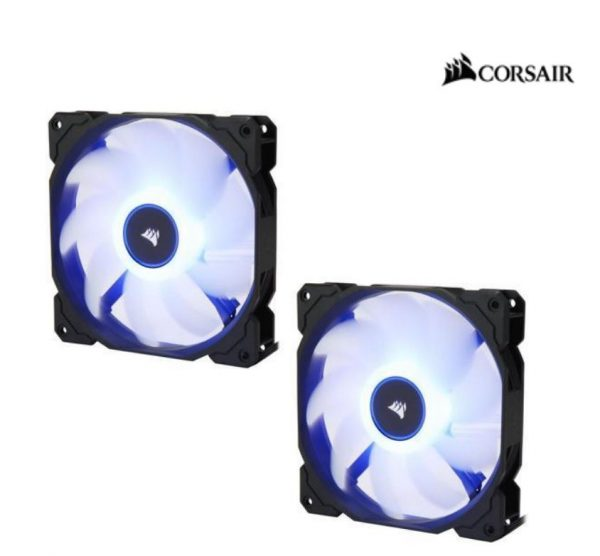 Corsair-CO-9050090-WW-Corsair Air Flow 140mm Fan Low Noise Edition / Blue LED 3 PIN - Hydraulic Bearing