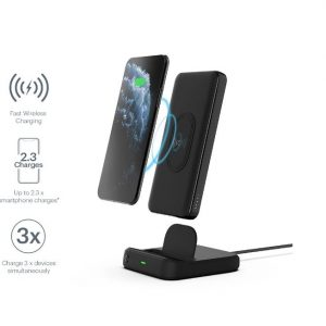 Cygnett-CY3038PBCHE-CYGNETT DUO 10K WIRELESS POWERBANK  CHARGING DOCK - BLACK - 18W FAST CHARGING FOR MOBILE DEVICES
