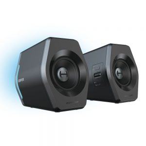 EDIFIER-G2000-Edifier G2000 Gaming 2.0 Speakers System - Bluetooth V4.2/ USB Sound Card/ AUX Input/RGB 12 Light Effects/ 16W RMS Power