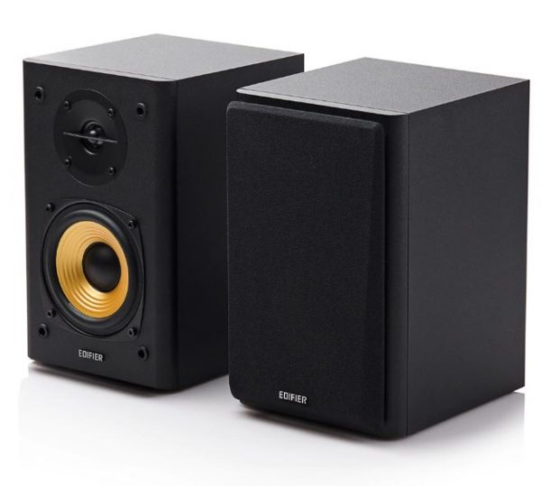 EDIFIER-R1000T4-BLACK-Edifier R1000T4 Ultra-Stylish Active Bookself Speaker - Uncompromising Sound Quality for Home Entertainment Theatre - 4inch Bass Driver Speakers BLACK