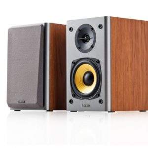 EDIFIER-R1000T4-BROWN-Edifier R1000T4 Ultra-Stylish Active Bookself Speaker - Uncompromising Sound Quality for Home Entertainment Theatre - 4inch Bass Driver Speakers BROWN
