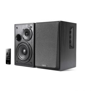 EDIFIER-R1580MB-Edifier R1580MB - 2.0 Lifestyle Active Bookshelf Bluetooth Studio Speakers Black /BT4.0/AUX/Bass/Dual Microphone Input for Social Events and Meetings