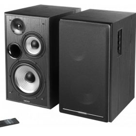 EDIFIER-R2750DB-BLACK-Edifier R2750DB Active 2.0 Speaker System with Sophisticated Sound in a Tri-amp Audio - Bluetooth Connection 6 1/2inch Bass Driver 136W RMS System