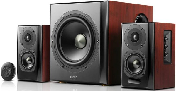 EDIFIER-S350DB-Edifier S350DB 2.1 Bluetooth Multimedia Speakers w/Subwoofer - 3.5mm/Optical/BT 4.1 AptX Wireless Sound/ Remote Control/8inch Booming Subwoofer