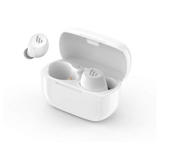 EDIFIER-TWS1-WHITE-Edifier TWS1 Bluetooth Wireless Earbuds - WHITE/Dual BT Connectivity/Wireless Charging Case/12 hr playtime/9 hr Charge Earphones (LS)