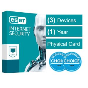 Eset-AV-ESISOEM-3D1Y-ESET Internet Security (Advanced Protection) OEM 3 Devices 1 Year Download - Includes 1x Physical Printed Download Card