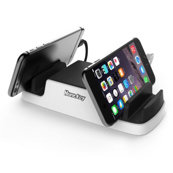 HuntKey-SCA607-Huntkey Smart USB Charging Dock with 4 USB 2.4A ports and 2 Micro USB Connectors - Perfect for mobile phone/tablet/IPAD char