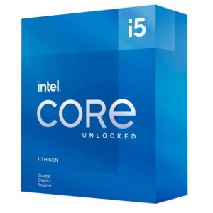 Intel-BX8070811600KF-New Intel i5-11600KF CPU 3.9GHz (4.9GHz Turbo) 11th Gen LGA1200 6-Cores 12-Threads 12MB 125W Graphic Card Required Unlocked Retail Box 3yrs