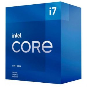 Intel-BX8070811700F-New Intel i7-11700F CPU 2.5GHz (4.9GHz Turbo) 11th Gen LGA1200 8-Cores 16-Threads 16MB 65W Graphic Card Required 750 Retail Box 3yrs Rocket
