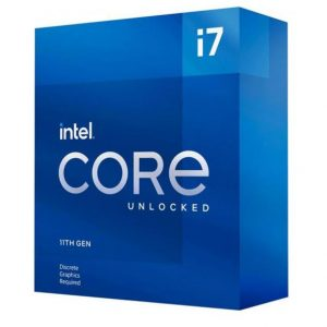 Intel-BX8070811700KF-New Intel i7-11700KF CPU 3.6GHz (5.0GHz Turbo) 11th Gen LGA1200 8-Cores 16-Threads 16MB 125W Graphic Card Required Unlocked Retail Box 3yrs