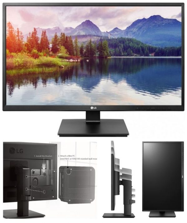 "LG-27BK550Y-B-LG 27"" IPS 5ms Full HD Business Monitor w/HAS - VGA DVI HDMI DP USB Speakers VESA Height Adjust Stand"