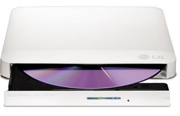 LG-GP50NW40-LG GP50NW40 Super-Multi Portable DVD Rewriter 8x DVD-R Writing Speed.TV Connectivity. M-DISC Support. Silent Play - White