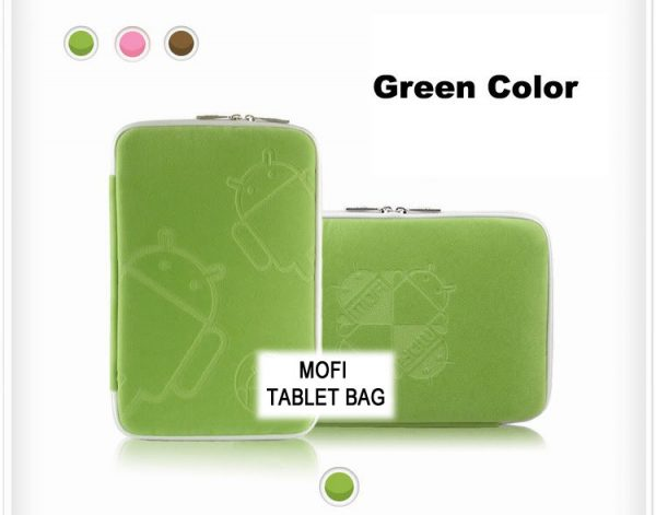 "Leader-NAL-T10MOFIGRE-Tablet 10"" MofiZip Case Green Andriod logo. Suit any 10"" tab"